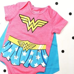 NWOT Wonder Woman Onesie Bodysuit Size 6-9 Months